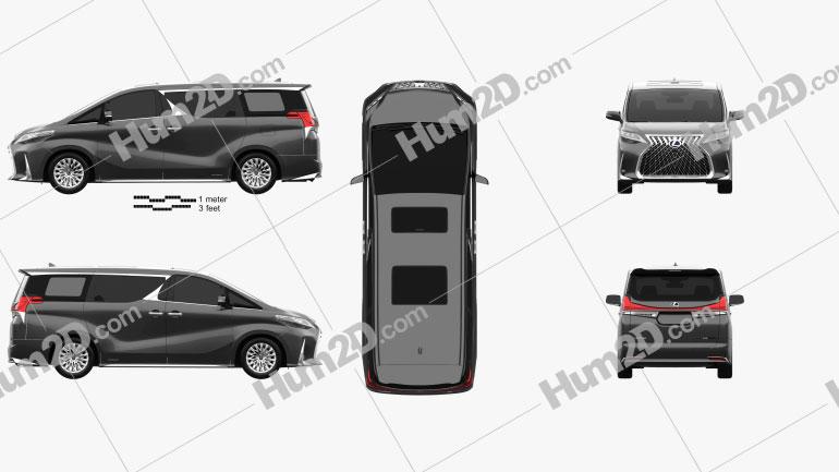 Lexus LM hybrid 2019 Clipart Image