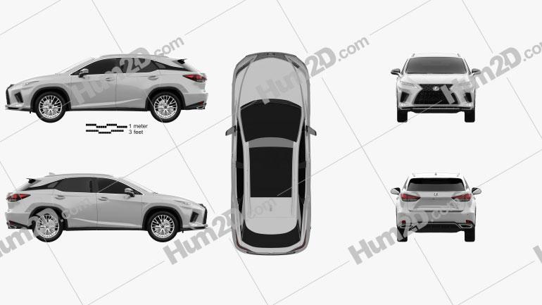 Lexus RX F Sport 2019 car clipart