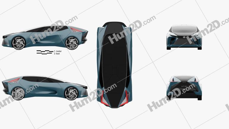 Lexus LF-30 Electrified 2019 car clipart