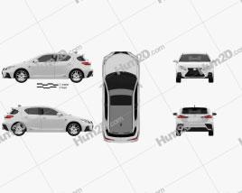 Lexus CT F-sport 2017 car clipart