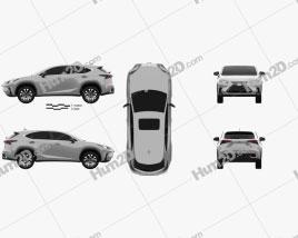 Lexus NX US-spec hybrid 2020 car clipart