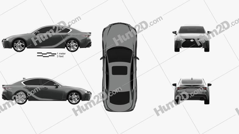 Lexus IS 2021 car clipart