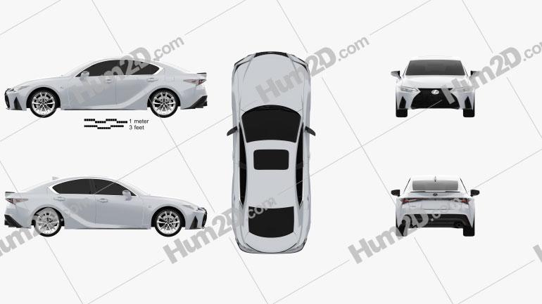 Lexus IS F Sport 2021 car clipart