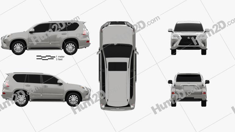 Lexus GX US-spec 2020 car clipart