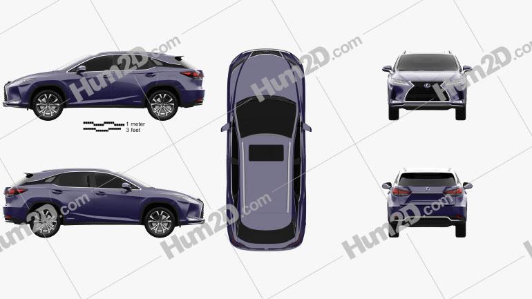 Lexus RX hybrid Executive 2020 car clipart