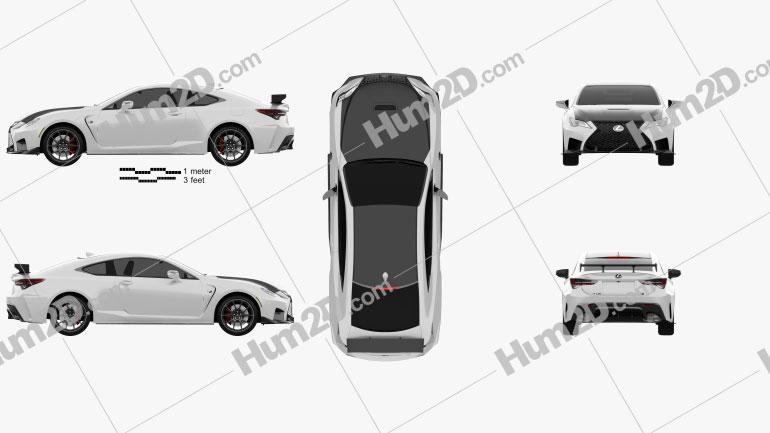 Lexus RC F-Track Edition US-Spez 2020 car clipart