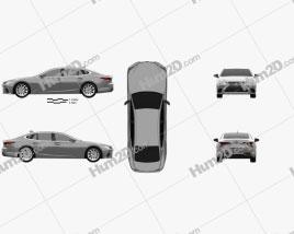 Lexus LS hybrid 2021 car clipart