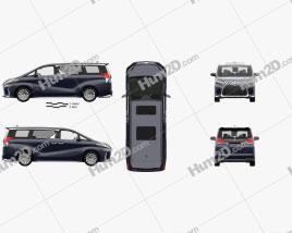 Lexus LM hybrid mit HD Innenraum 2019 clipart