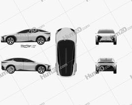 Lexus LF-Z Electrified 2021 car clipart