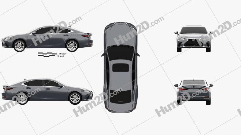 Lexus ES 2021 car clipart