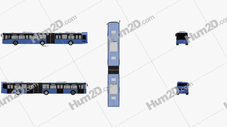 LiAZ 6213-65 Bus 2018 clipart