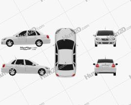 Lifan Breez (520) sedan 2012 car clipart