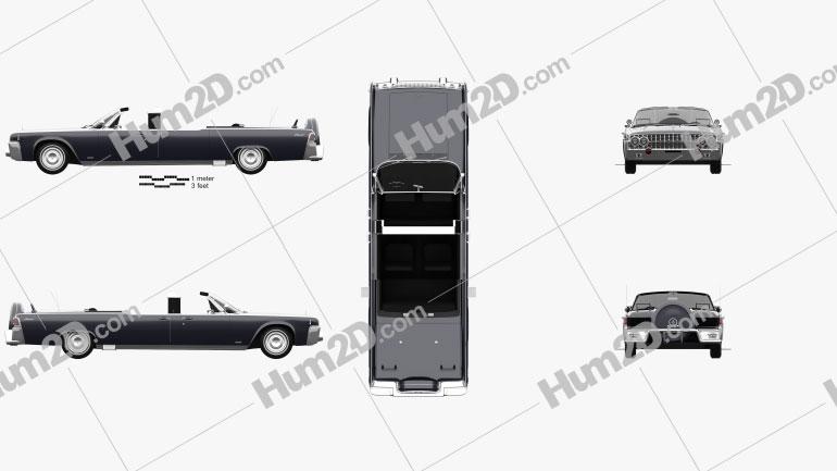 Lincoln Continental X-100 1961 car clipart