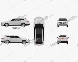 Lincoln MKT 2012 car clipart