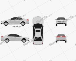Lincoln MKZ 2012 car clipart