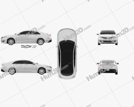 Lincoln MKZ 2013 car clipart