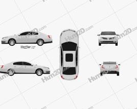 Lincoln MKS 2013 car clipart