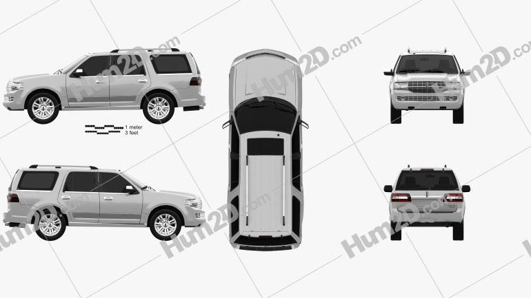 Lincoln Navigator (U326) 2012 car clipart