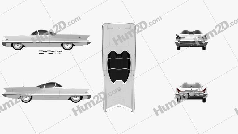 Lincoln Futura 1955 Clipart Image