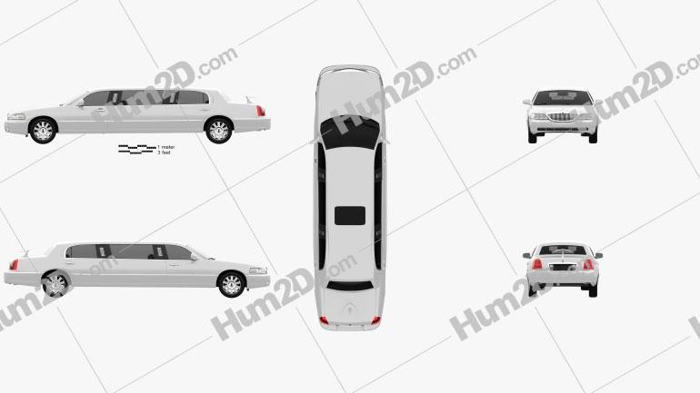 Lincoln Town Car Limousine 2011 Clipart Image