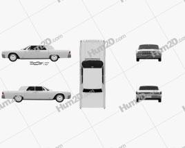 Lincoln Continental sedan 1962 car clipart