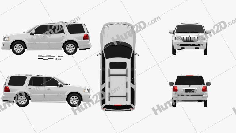 Lincoln Navigator (U228) 2003 car clipart