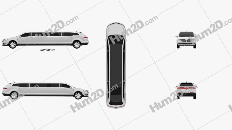 Lincoln MKT Royale Limousine 2012 Clipart Image