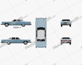 Lincoln Continental sedan 1975 car clipart