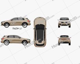 Lincoln MKX 2014 car clipart