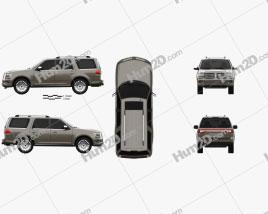 Lincoln Navigator 2015 car clipart