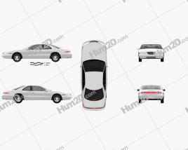 Lincoln Mark 1998 car clipart