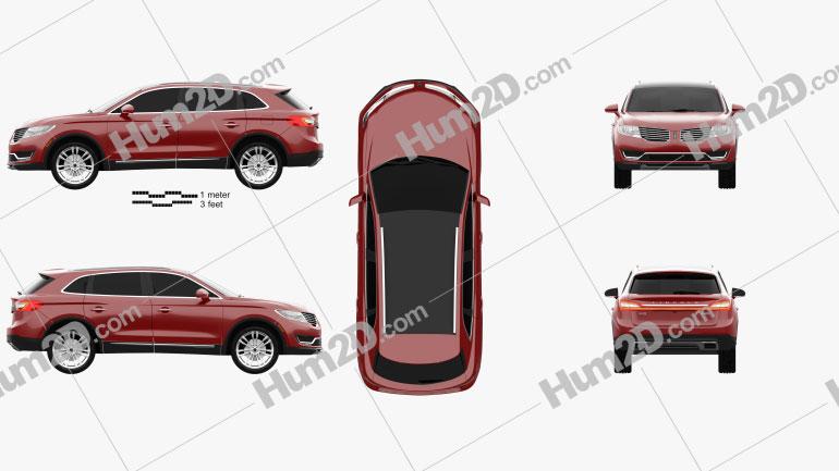 Lincoln MKX 2016 car clipart