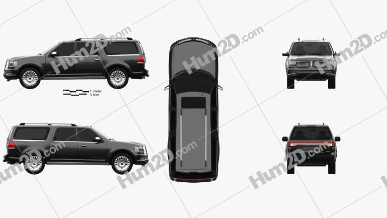 Lincoln Navigator L 2014 car clipart