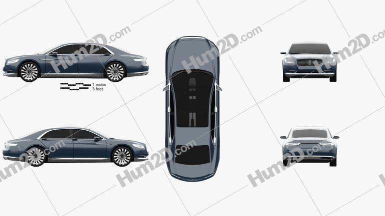 Lincoln Continental concept 2015 Clipart Bild