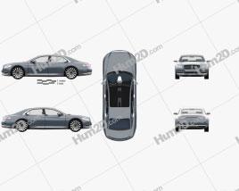 Lincoln Continental mit HD Innenraum 2015 car clipart