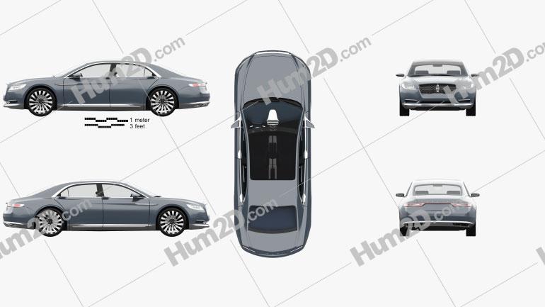 Lincoln Continental com interior HQ 2015 car clipart