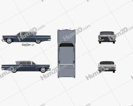 Lincoln Continental Mark III Landau 1958 car clipart
