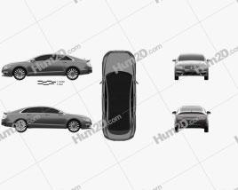 Lincoln MKZ 2017 car clipart