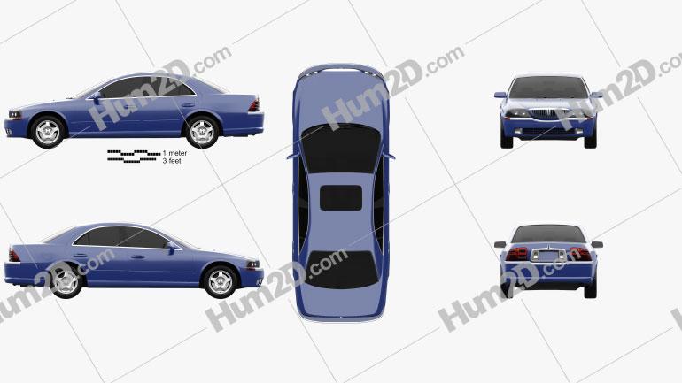 Lincoln LS 1999 car clipart