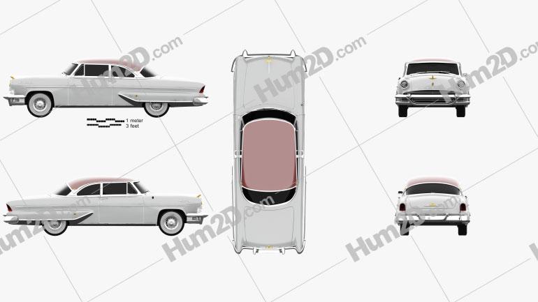 Lincoln Capri Hardtop Coupe 1955 car clipart