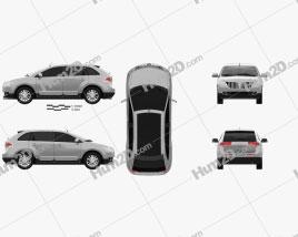 Lincoln MKX 2011 car clipart