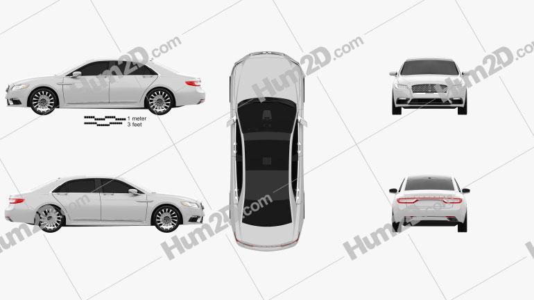 Lincoln Continental 2017 Clipart Bild