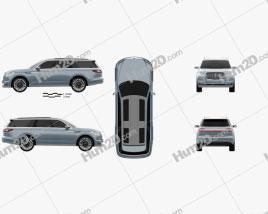 Lincoln Navigator concept 2016 car clipart