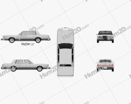 Lincoln Town Car 1989 car clipart