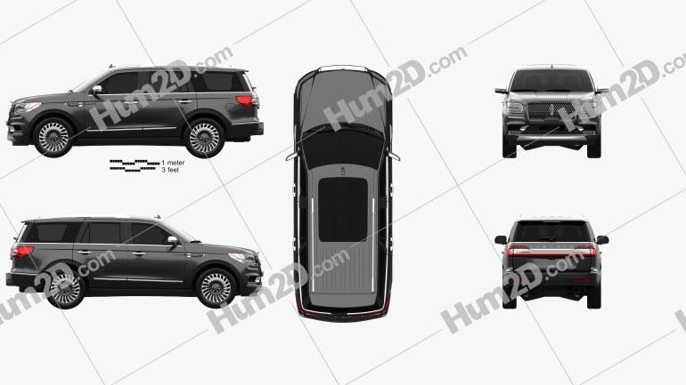 Lincoln Navigator Black Label 2017 car clipart
