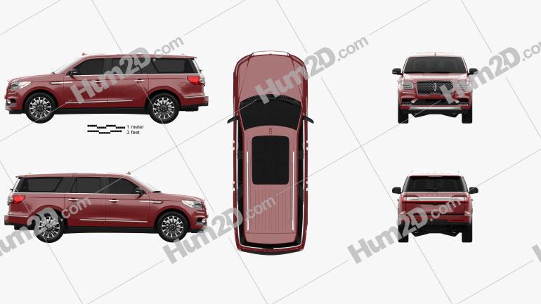 Lincoln Navigator L Select 2017 car clipart