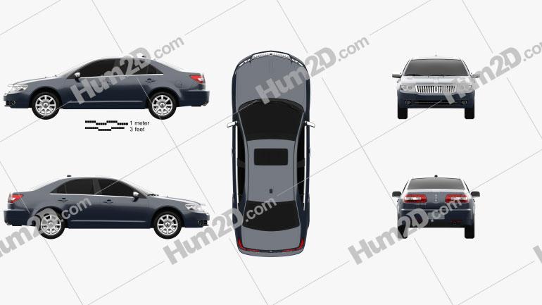 Lincoln Zephyr 2006 car clipart