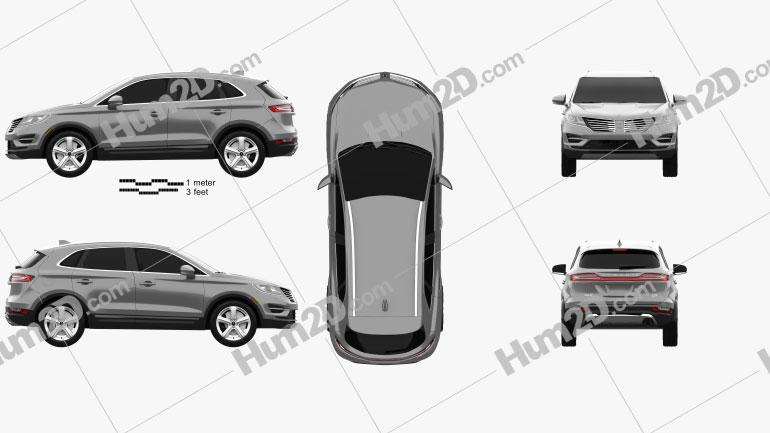 Lincoln MKC Reserve 2017 car clipart