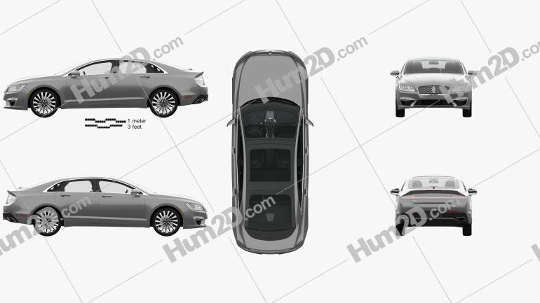 Lincoln MKZ com interior HQ 2017 car clipart