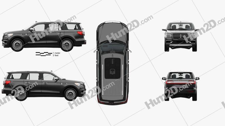 Lincoln Navigator Black Label with HQ interior 2017 Clipart Image